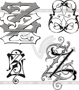 Clipart zz png freeuse library Monogram ZZ - vector clipart png freeuse library