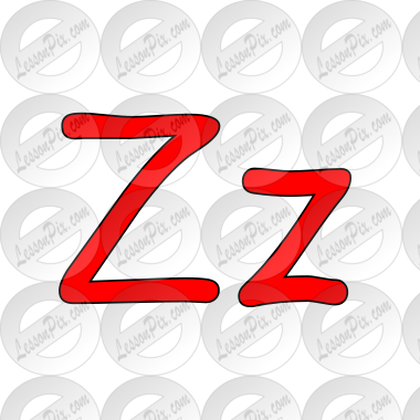 Clipart zz jpg black and white stock Zz Picture for Classroom / Therapy Use - Great Zz Clipart jpg black and white stock