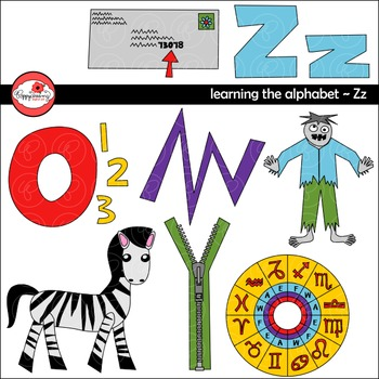 Clipart zz png black and white Learning the Alphabet - The Letter Z Clipart by Poppydreamz png black and white