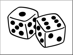 Dice images clipart picture freeuse stock Clip Art: Basic Words: Dice B&W Unlabeled I abcteach.com | abcteach picture freeuse stock