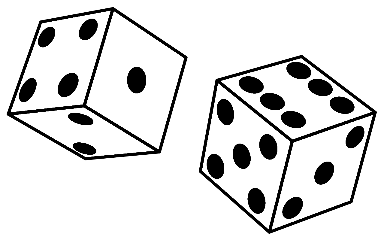 Free clipart of black and white dice clipart transparent library Best Dice Clip Art #13975 - Clipartion.com clipart transparent library