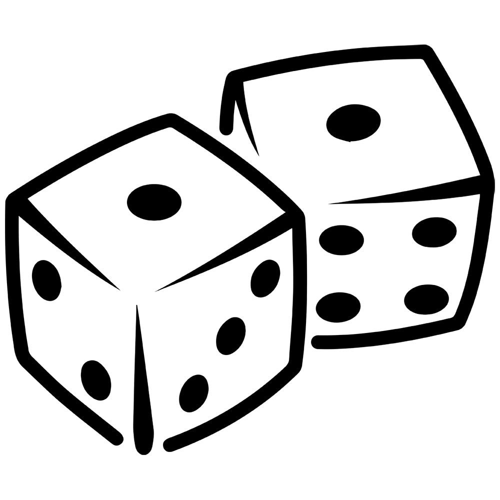 Dice images clipart graphic black and white download Dice Clipart | Games Clipart | Laptop stickers, Stickers, Tool box graphic black and white download