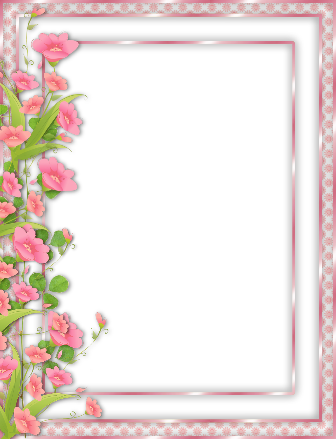 Clipart-flower borders and frames vector freeuse stock Pink Transparent PNG Frame with Flowers | border | Pinterest ... vector freeuse stock