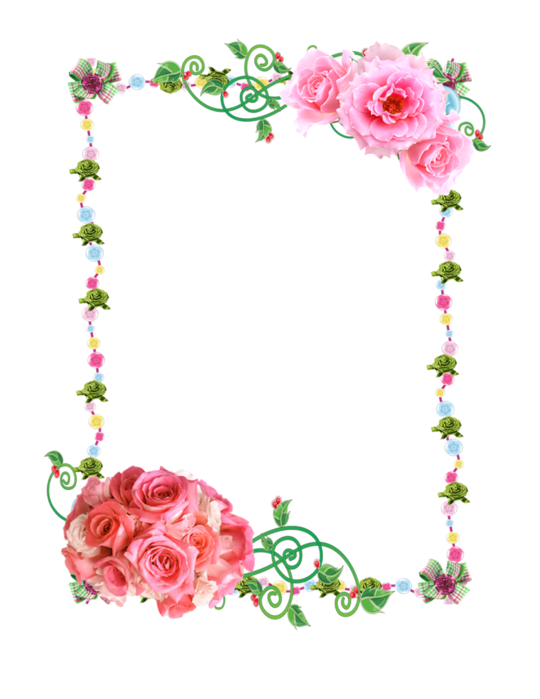 Free flower frame clipart clipart Paper Borders and Frames Flower Rose Clip art - flower border 786 ... clipart