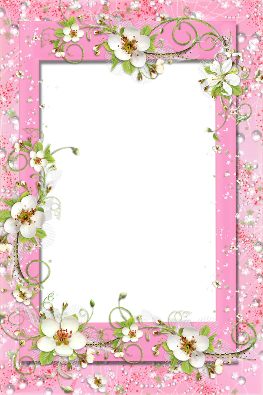 Clipart-flower borders and frames clip free library Transparent Pink PNG Frame with Flowers | Photo Frames | Pinterest ... clip free library