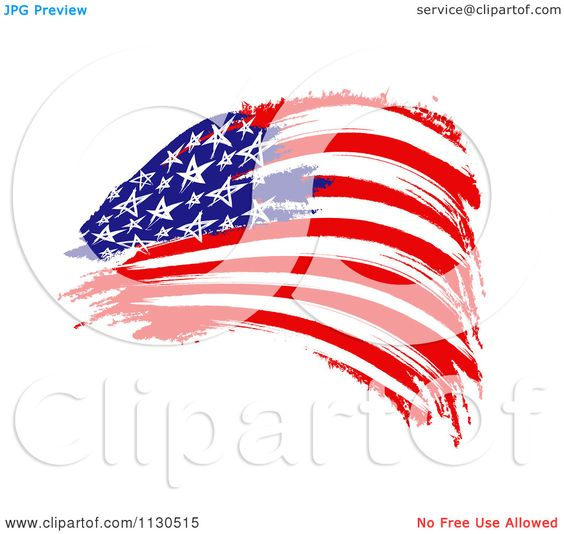 Clipartof search svg library stock Clipart Of A Painted American Flag - Royalty Free CGI Illustration ... svg library stock