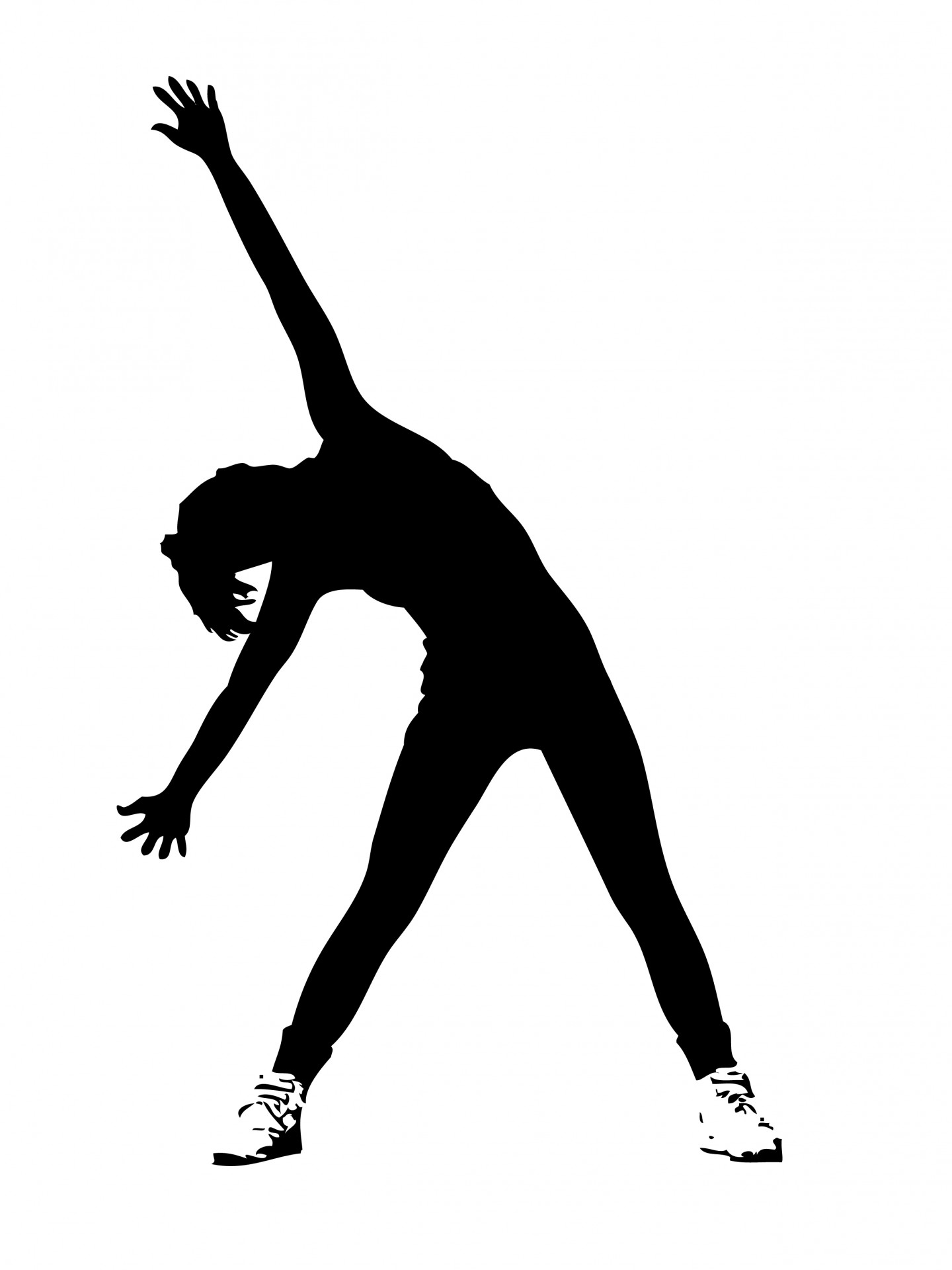 Cliparts aerobic jpg black and white library Cliparts aerobic - ClipartFest jpg black and white library