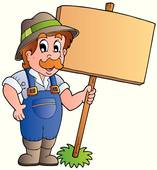 Clipart of farmer in. Cliparts bauer
