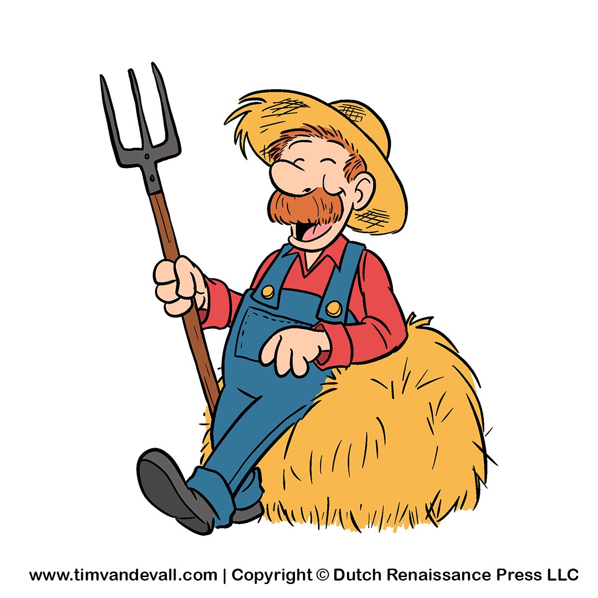 Cliparts bauer. Cartoon farmer clipart kid