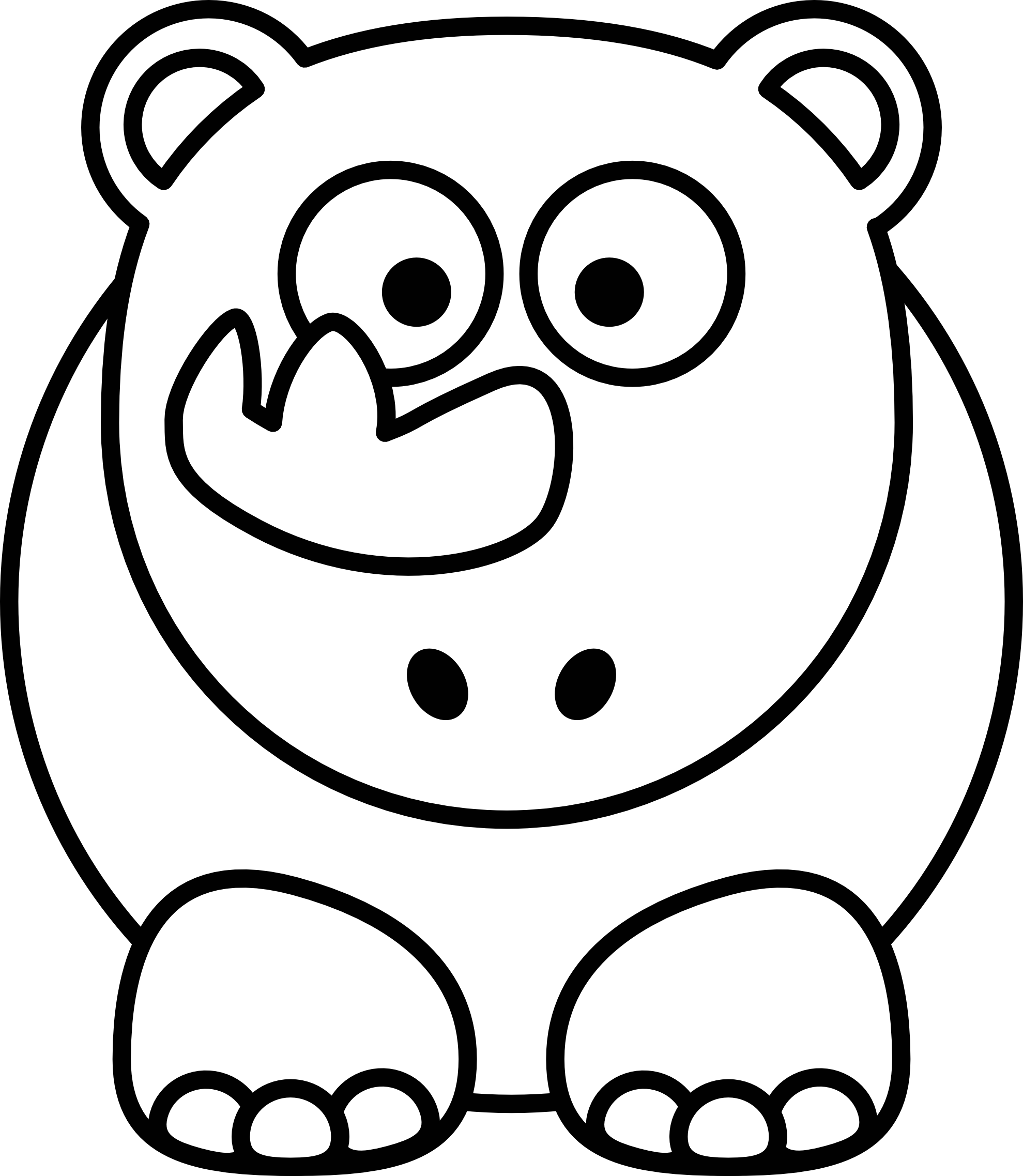 Free clipart black and white cute animal clip freeuse download Free Animal Black And White, Download Free Clip Art, Free Clip Art ... clip freeuse download