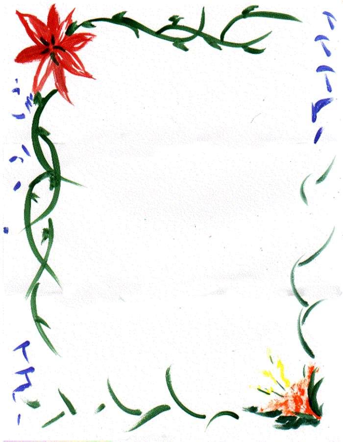 Cliparts border. Flower clipartfest art clipart