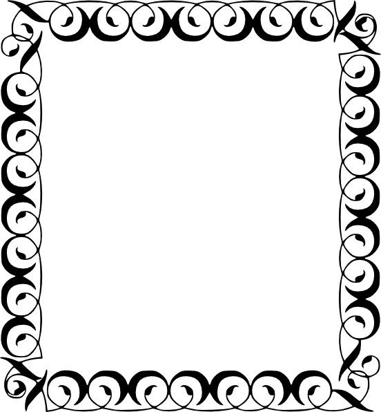 Cliparts border clip art black and white download Decorative Border clip art Free vector in Open office drawing svg ... clip art black and white download