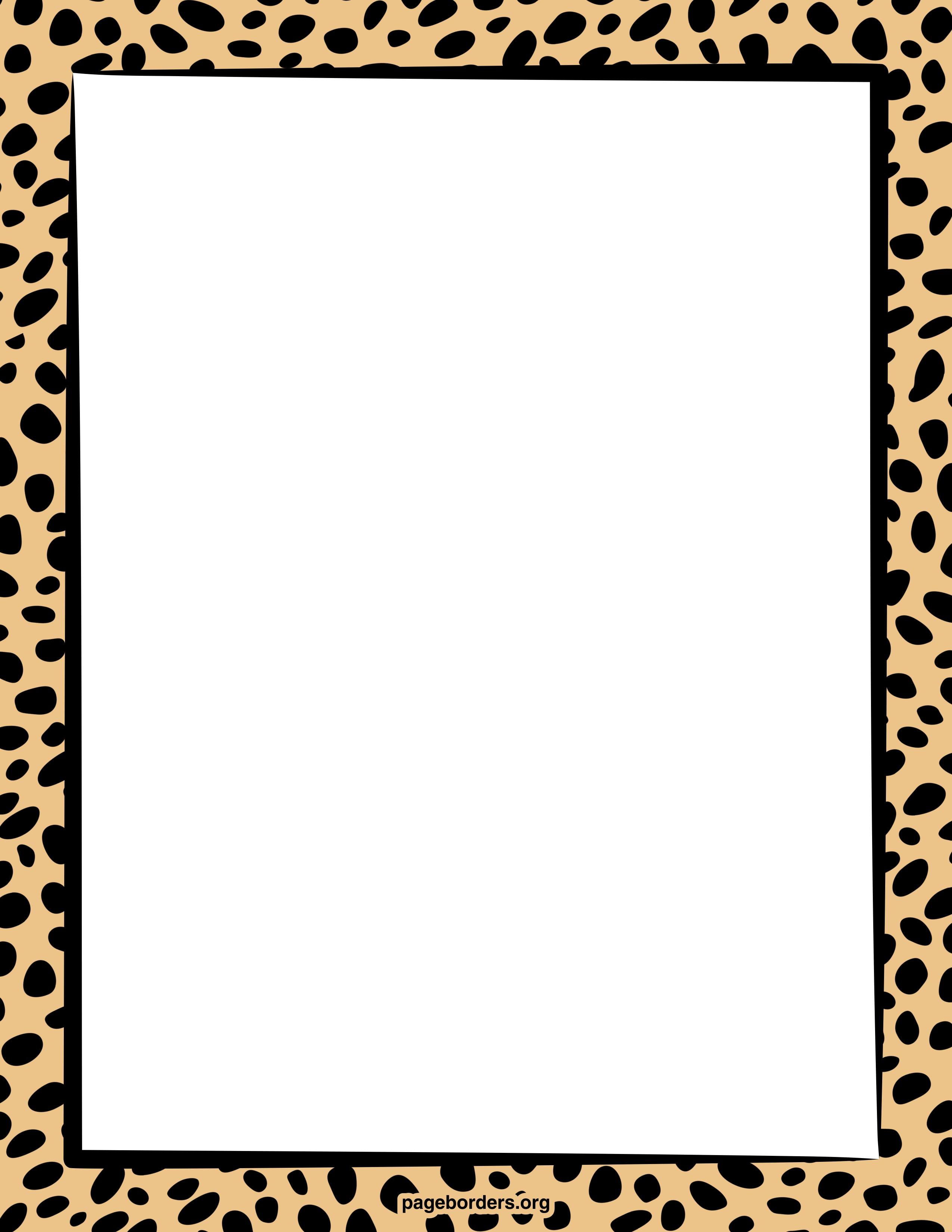 Cliparts border. Clipartfest giraffe print clipart