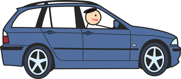 Cliparts car. People in clipart kid