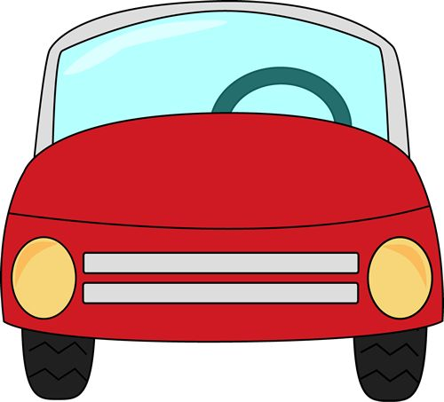 Red clip art image. Cliparts car