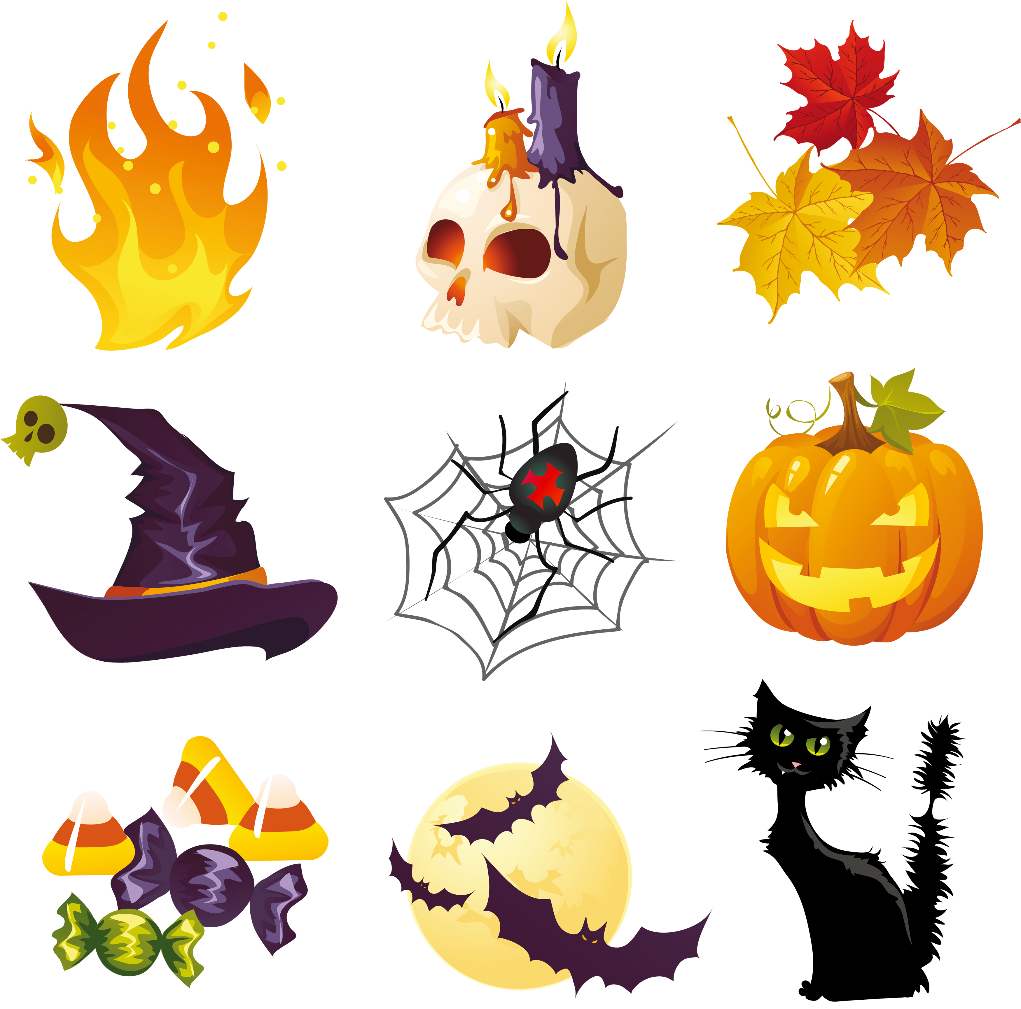 Clipart halloween decorations clip royalty free library Halloween Pictures Collection Clipart | Gallery Yopriceville - High ... clip royalty free library