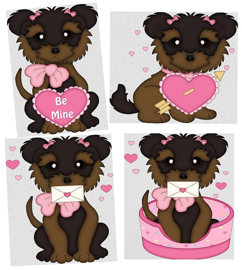 Cliparts de perrito enamorado jpg png black and white library Clipart de Perritos para San Valentín. - Ideas y material gratis ... png black and white library