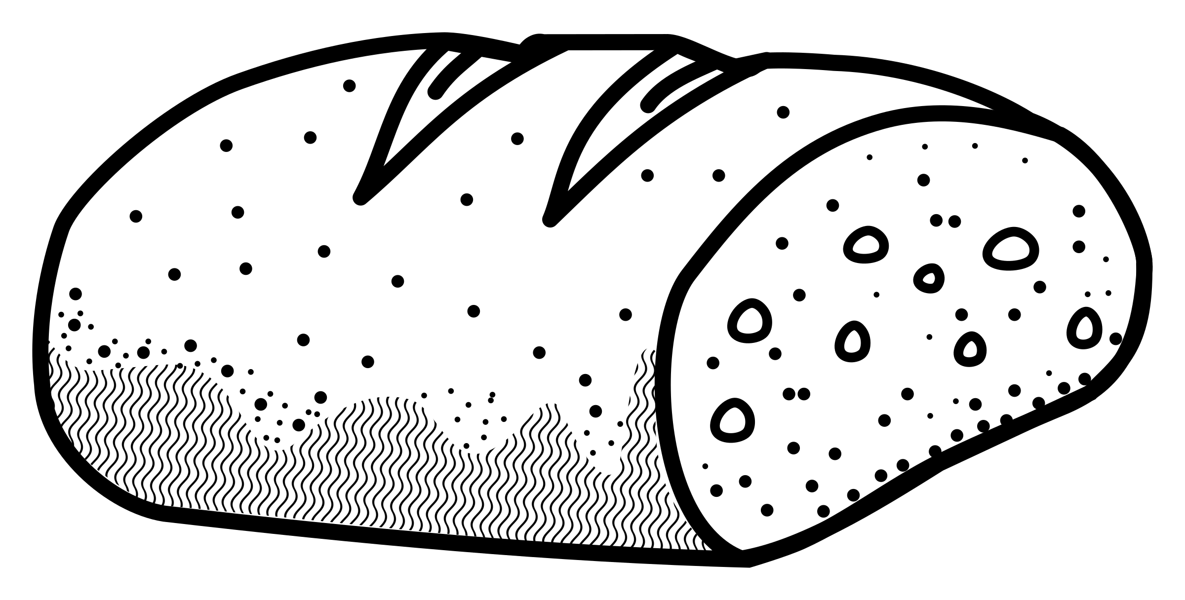Pumpkin bread clipart black and white outline svg freeuse download Clipart - bread - lineart svg freeuse download