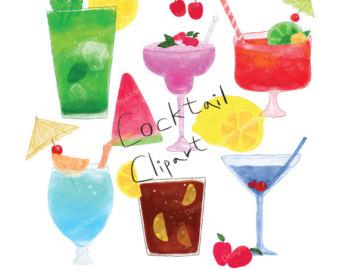 Cliparts essen trinken party clip art royalty free download Drink clipart | Etsy clip art royalty free download
