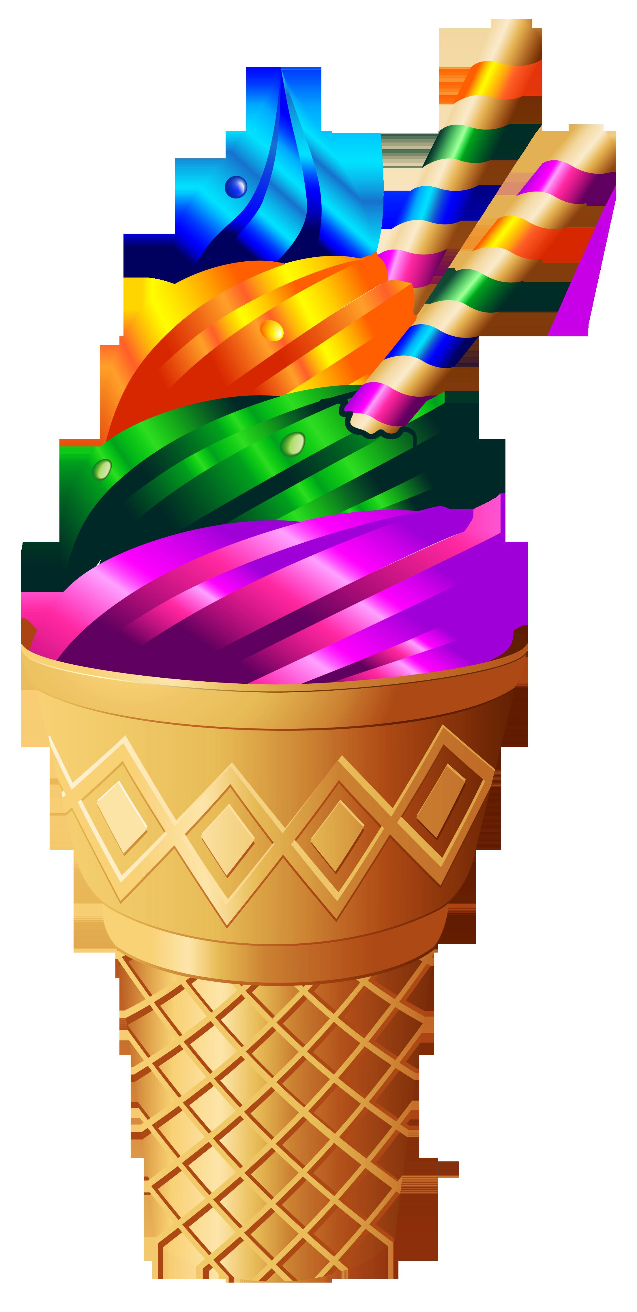 Cliparts zu essen und trinken clipart freeuse library Transparent Rainbow Ice Cream PNG Image | Scrap booking | Pinterest ... clipart freeuse library