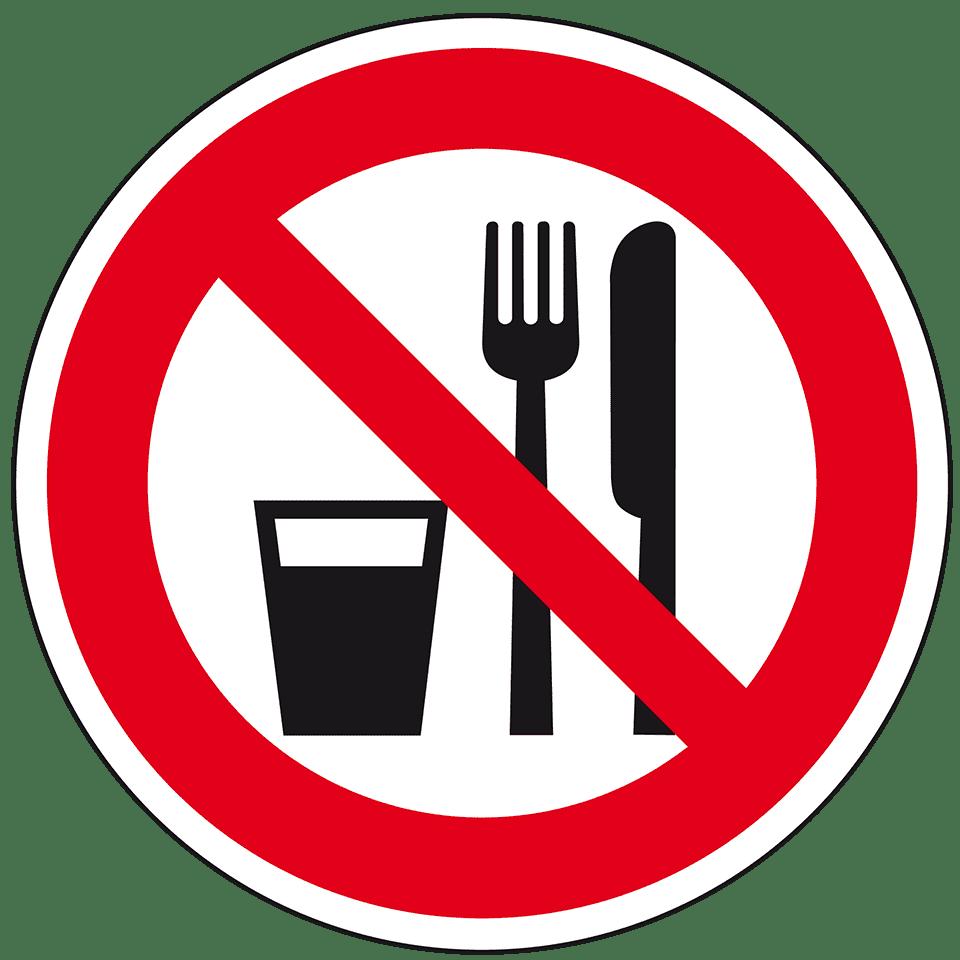 Cliparts essen und trinken vector transparent Verbotsschild Essen und Trinken, praxisbewährt, Kunststoff, Ø 200mm ... vector transparent