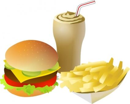 Cliparts essen und trinken gratis. Srd fastfood menue clip