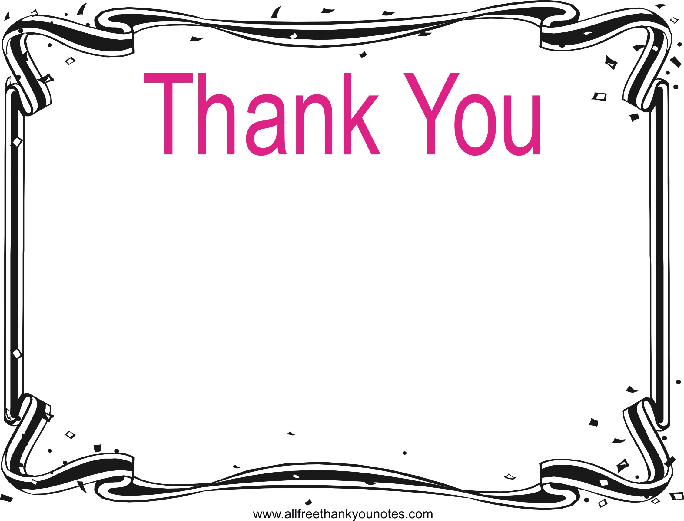 Thank you border clipart clip library library Thank you black and white thank you border clip art - WikiClipArt clip library library