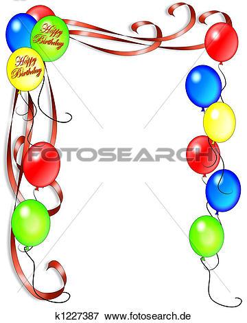 Cliparts geburtstag einladung transparent stock Stock Illustration - geburtstagseinladung, luftballone k1227387 ... transparent stock
