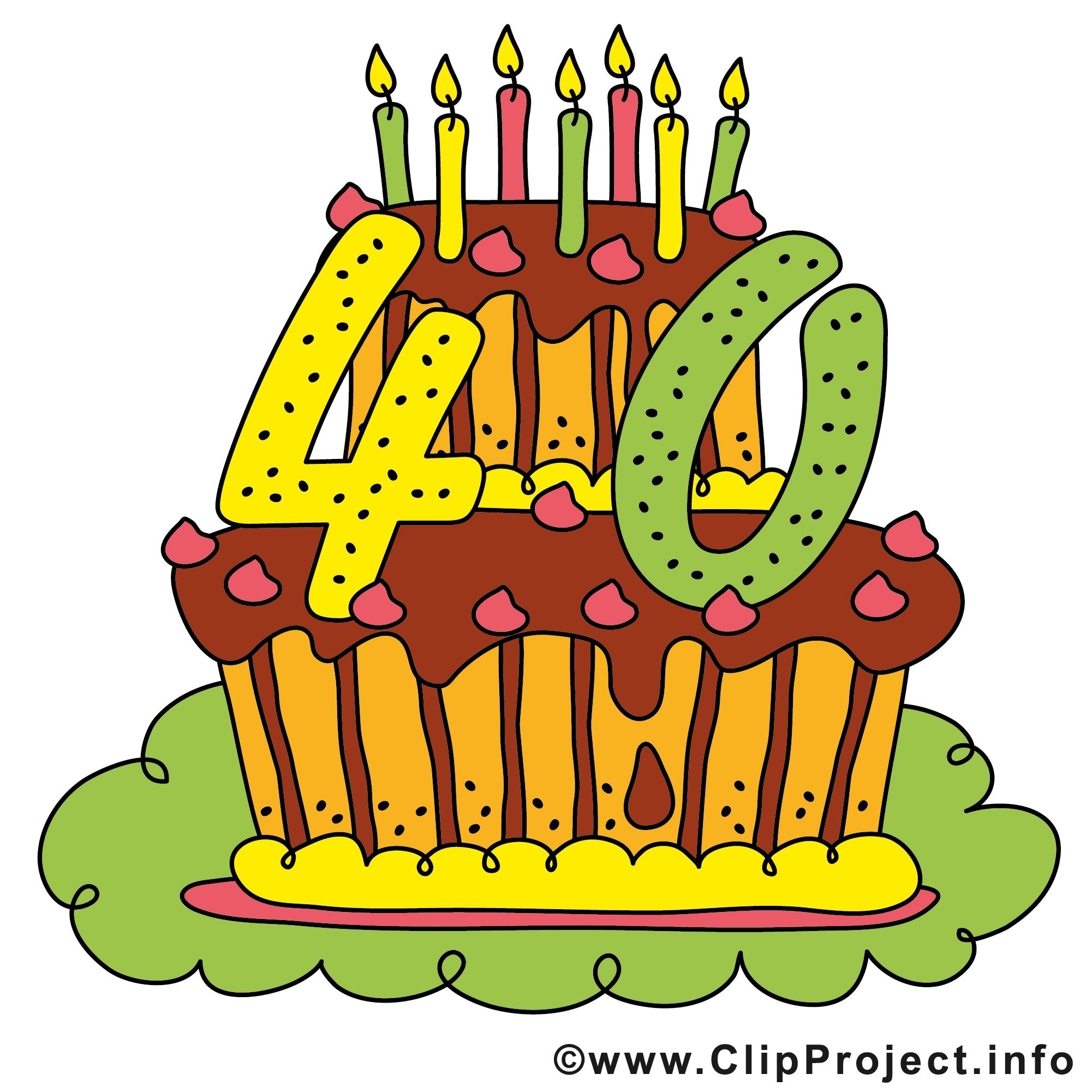 Cliparts geburtstag zum ausdrucken graphic stock 40 Jahre Geburtstagsparty Clipart - Bild graphic stock
