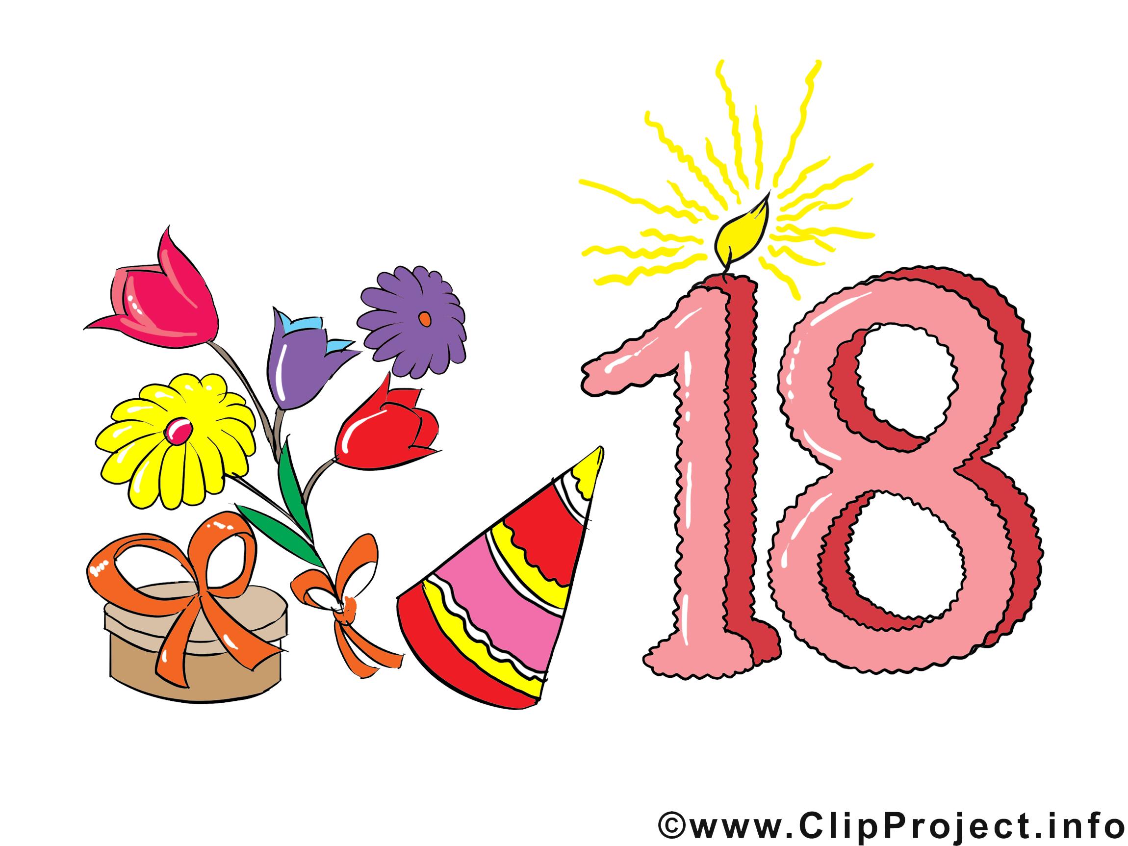 Cliparts geburtstag zum ausdrucken graphic free download Cliparts zum 18 geburtstag - ClipartFox graphic free download