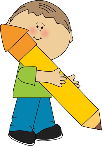 Cliparts graphics banner library download Boy holding a big pencil made by My Cute Graphics | School Kids ... banner library download
