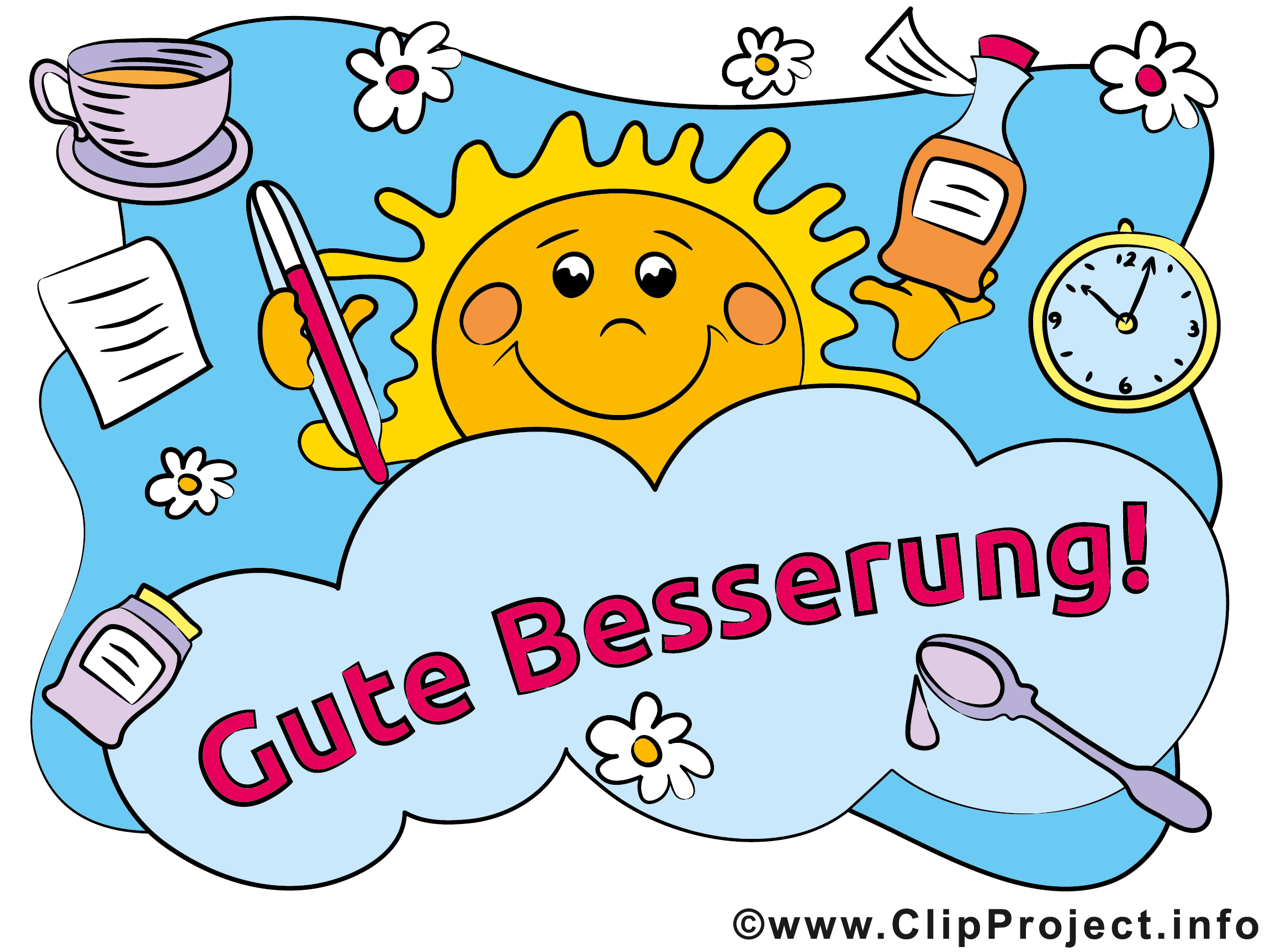 Cliparts gute besserung picture free library E Card gute Besserung picture free library