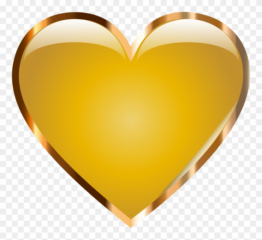 Cliparts heart gold clipart transparent download Gold Clipart Love Heart - Gold Heart Png Transparent Png (#785235 ... clipart transparent download