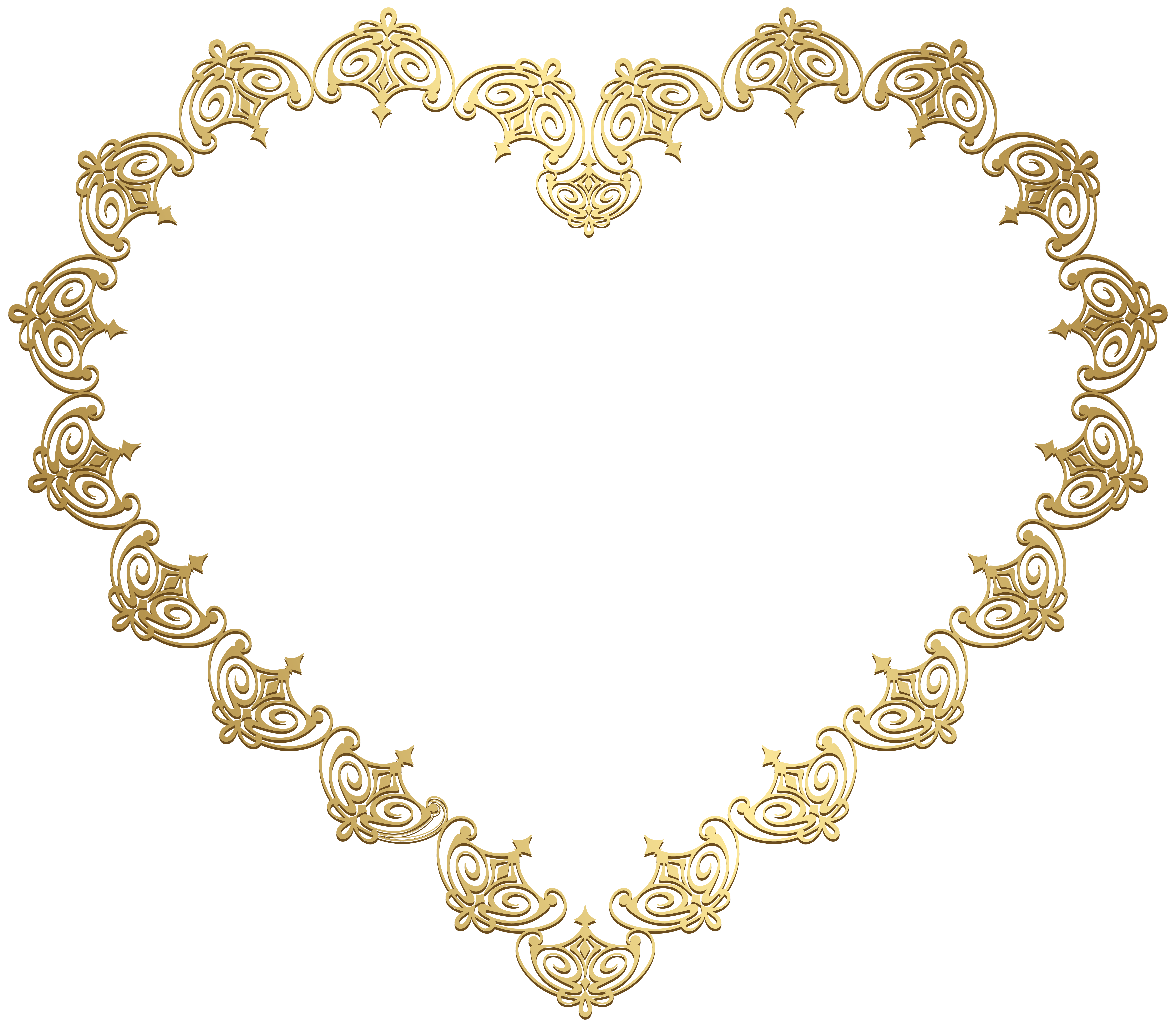 Cliparts heart gold graphic library download Heart Gold Transparent Clip Art Image | Gallery Yopriceville - High ... graphic library download