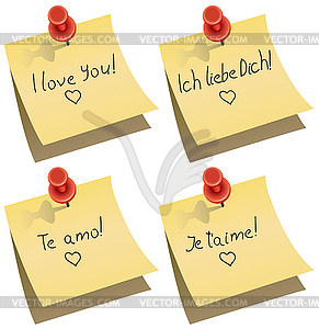 Cliparts ich liebe dich graphic black and white stock note with I love you words - vector clipart graphic black and white stock