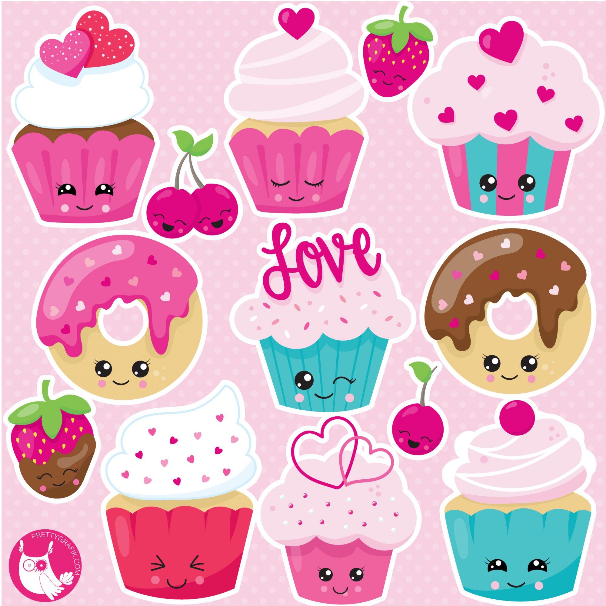 Kawaii clipart svg transparent stock Kawaii cupcake clipart svg transparent stock