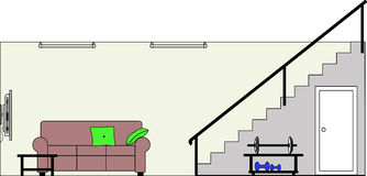 Cliparts keller vector black and white Basement Stairs Stock Illustrations – 60 Basement Stairs Stock ... vector black and white