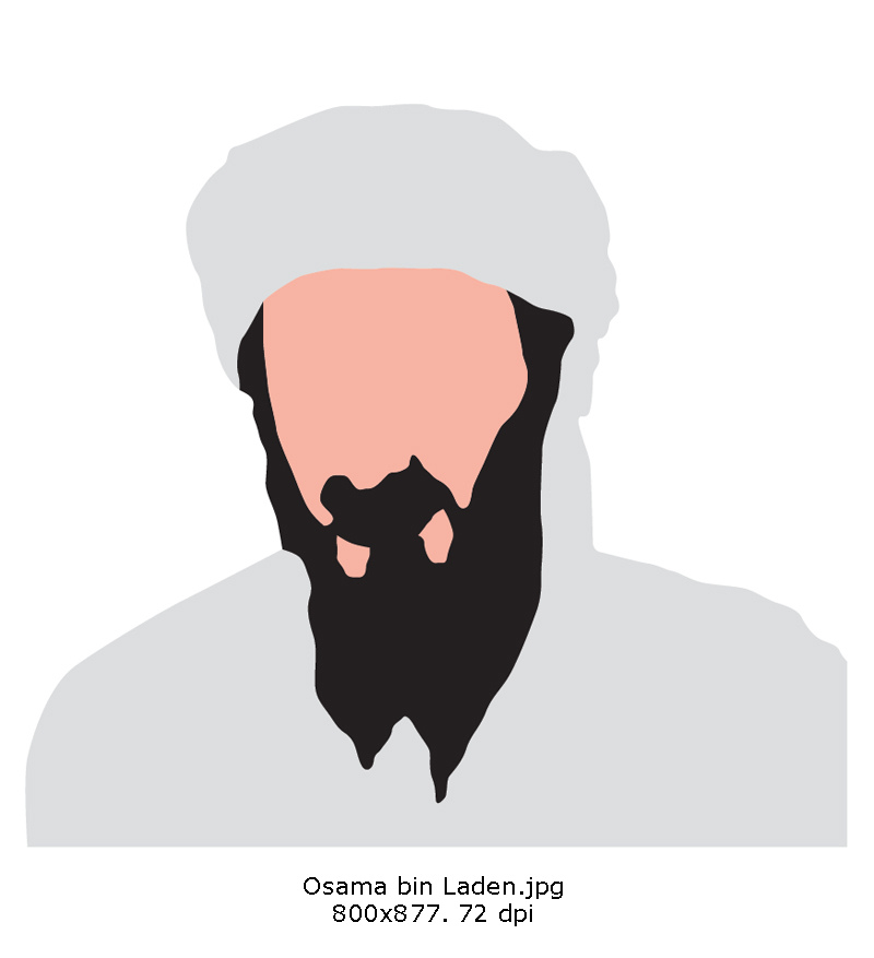 Cliparts laden graphic black and white download Osama bin laden clipart - ClipartFest graphic black and white download