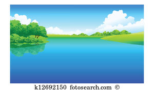 Lake clipart eps images. Cliparts lakes