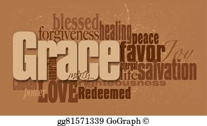Cliparts of grace and mercy clipart freeuse library Grace Clip Art - Royalty Free - GoGraph clipart freeuse library