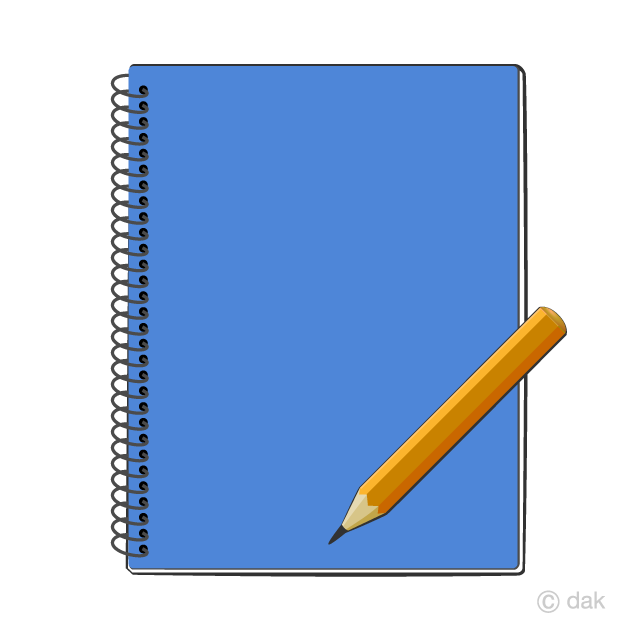 Noteboook clipart clip freeuse Notebook and Pencil Clipart Free Picture|Illustoon clip freeuse