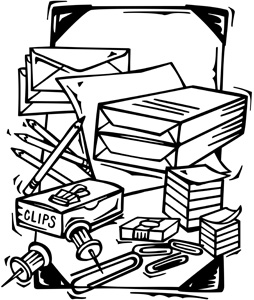 Materials clipart black and white png Clip Art Of Office Supplies. | Clipart Panda - Free Clipart Images png