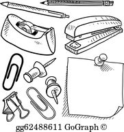 Clipart office supplies graphic freeuse stock Office Supplies Clip Art - Royalty Free - GoGraph graphic freeuse stock