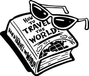 Cliparts of travel all over the world black and white vector library library Travelling around the world | Places to go! | Travel clipart, Travel ... vector library library