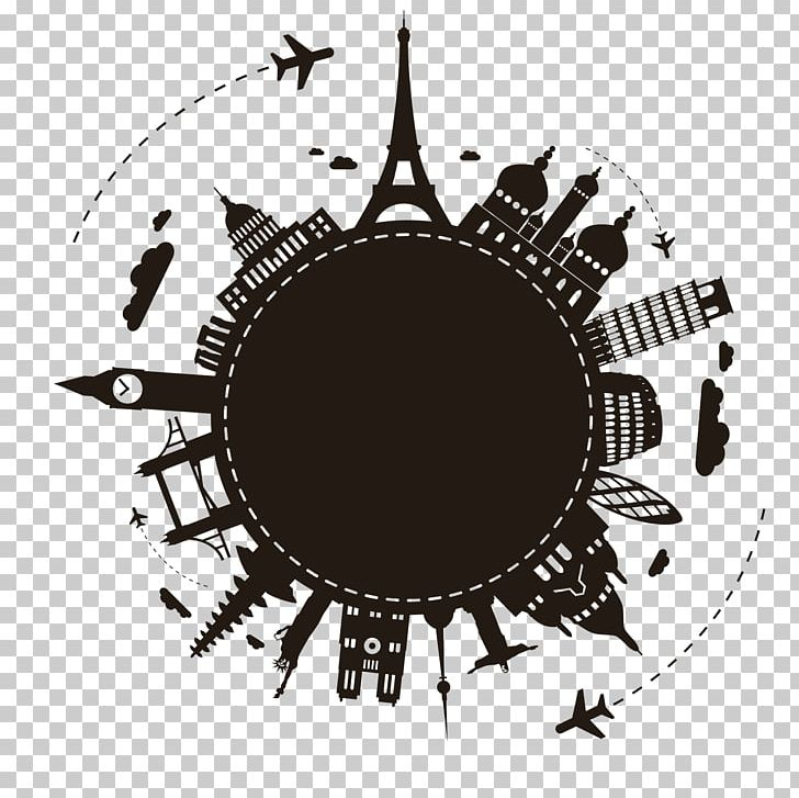 Cliparts of travel all over the world black and white image freeuse stock Earth Travel Illustration PNG, Clipart, Black And White, Brand ... image freeuse stock