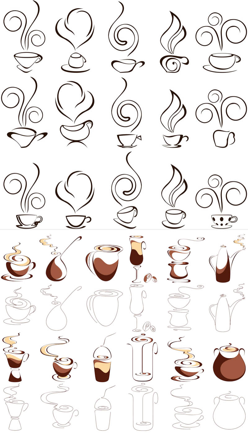Floral decorative ornaments vector. Cliparts package free download