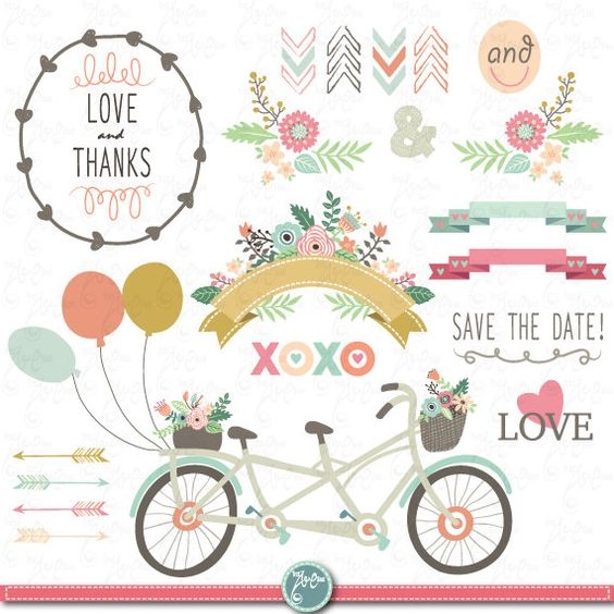 Cliparts package free download. Wedding clipart pack clip