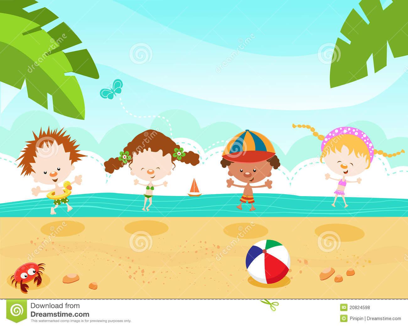 Cliparts strand kostenlos graphic library download Kinder am strand clipart - ClipartFox graphic library download