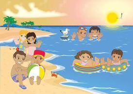 Cliparts strand kostenlos clip art royalty free stock Kinder am Strand, Vektorgrafik - Clipart.me clip art royalty free stock