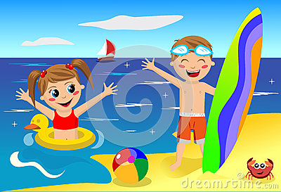 Kinder am clipart clipartfox. Cliparts strand kostenlos